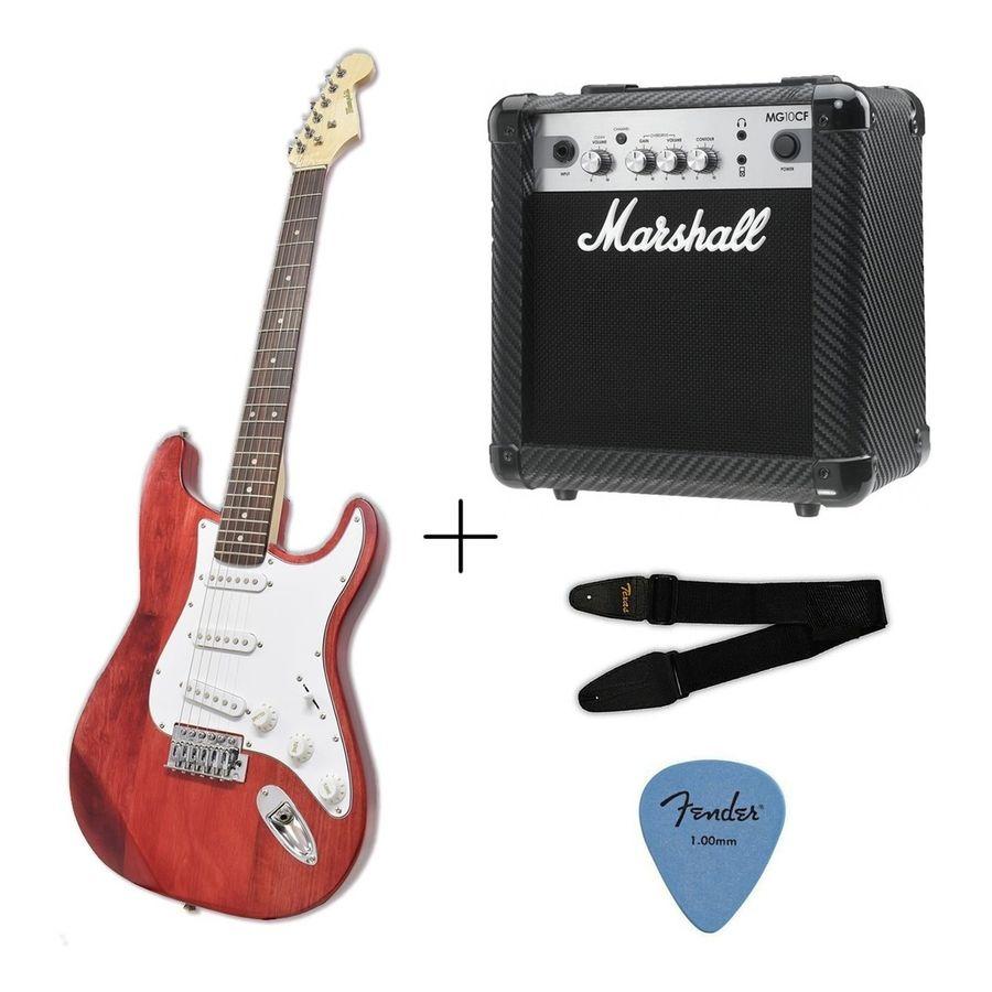 Guitarra-Electrica-Stratocaster---Amplificador-Marshall-Mg10