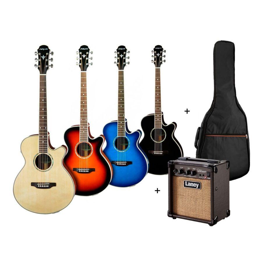Guitarra-Electroacustica---Amplificador-Laney-10w---Funda