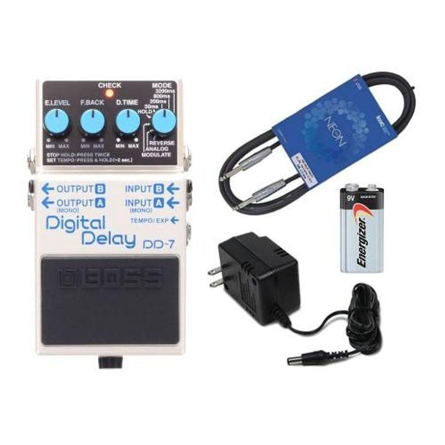 Pedal-Boss-Digital-Delay-Dd-7---Cable---Fuente---Bateria