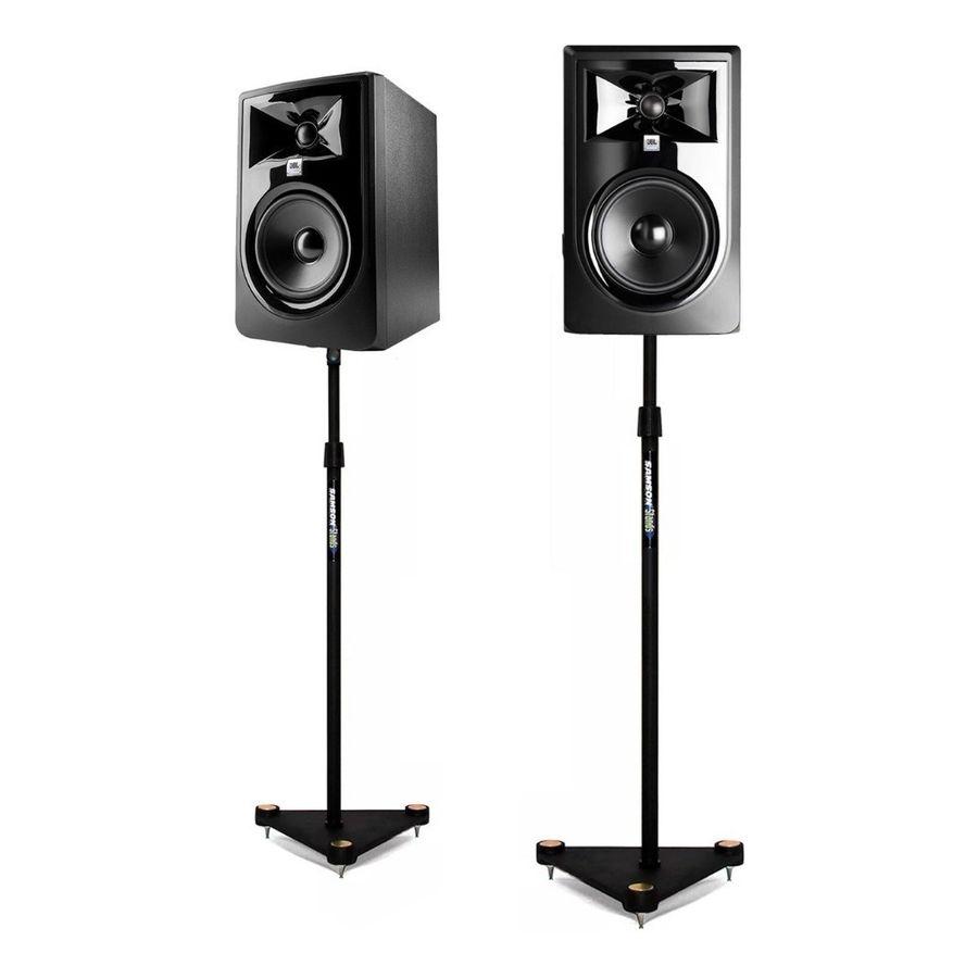 Combo-Par-Monitores-De-Estudio-Jbl-Lsr-305-Mk2----Soportes