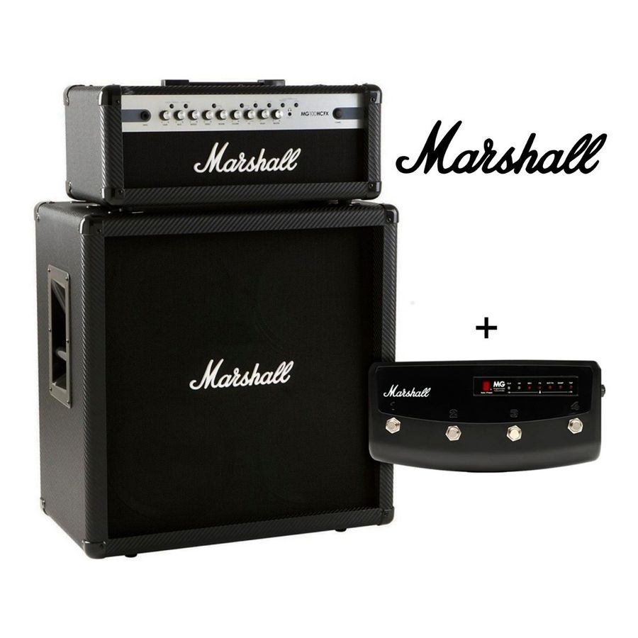 Combo-Cabezal-Marshall-Mg100---Caja-Mg-412---Footswitch