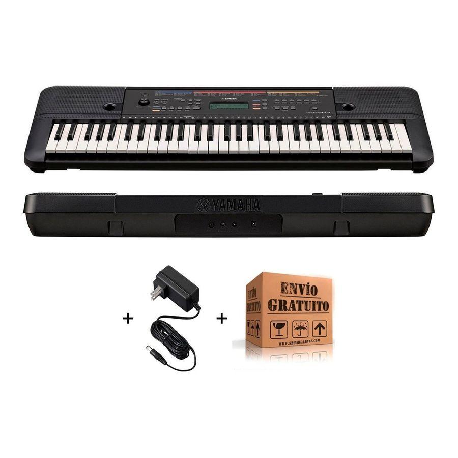 Teclado-Organo-Yamaha-Psr-E263-5-Octavas-61-Teclas-400-Sonidos-32-Notas-De-Polifonia-130-Estilos---Fuente---Envio
