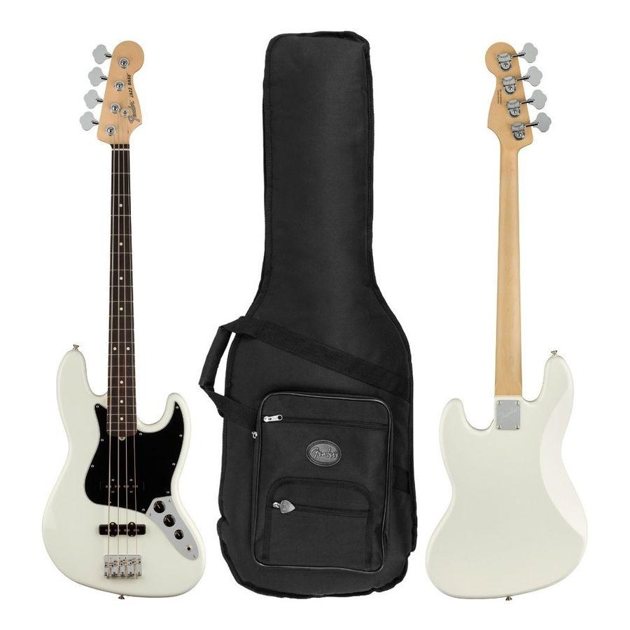Bajo-Fender-American-Performer-Jazz-Bass-Rw-Blanco---Funda