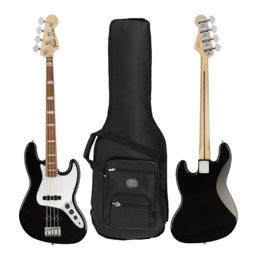 Bajo-Electrica-Fender-Jazz-Bass-70s-Color-Negro---Funda