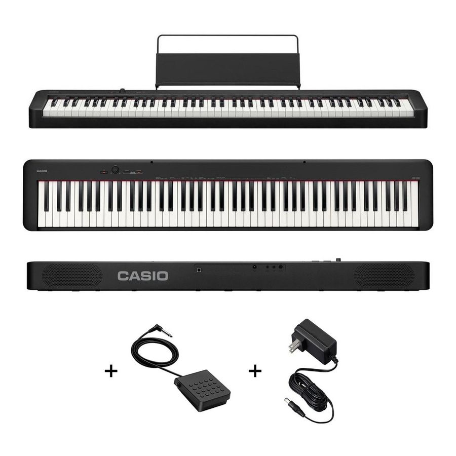 Piano-Digital-Casio-Cdp-s100bk-88-Teclas-Sensitivo---Fuente