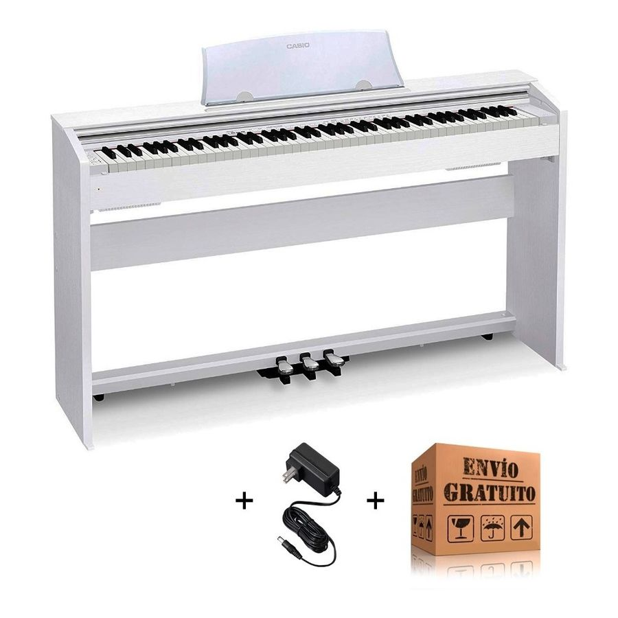 Piano-Digital-Casio-Privia-Px770we---Mueble-3-Pedales-Blanco