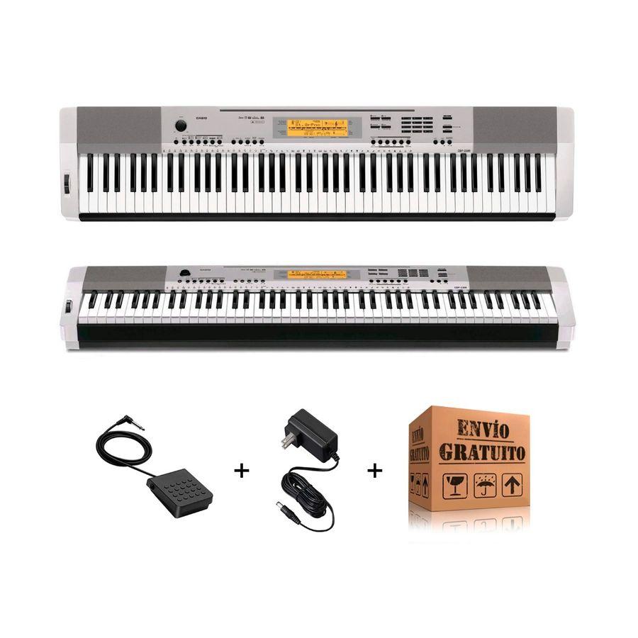 Piano-Digital-Casio-Cdp230-88-Teclas-Usb---Pedal---Fuente