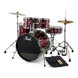 Bateria-Completa-Pearl-Bombo-22---5-Fierros---Platos-Rs525sc