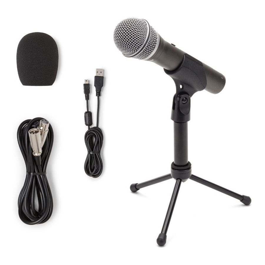 Kit-Microfono-Dinamico-Samson-Q2u-Usb---Accesorios-Soporte