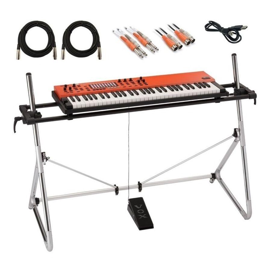 Organo-Piano-Teclado-Escenario-Vox-Continental-61---Soporte