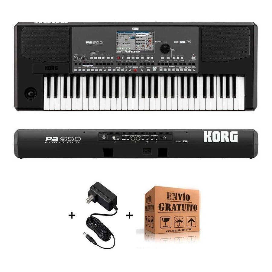 Combo-Korg-Pa600-Sintetizador-Arranger-61-Teclas---Envio