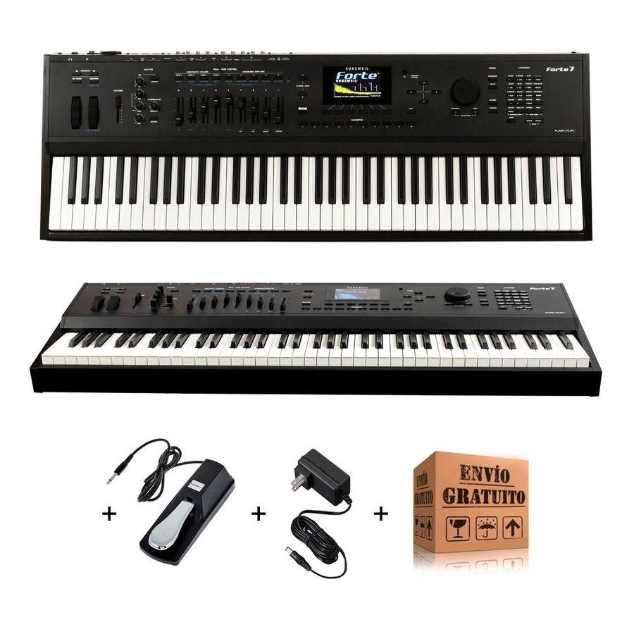 Piano-De-Escenario-Kurzweil-Forte-7-76-Teclas-Midi---Pedal