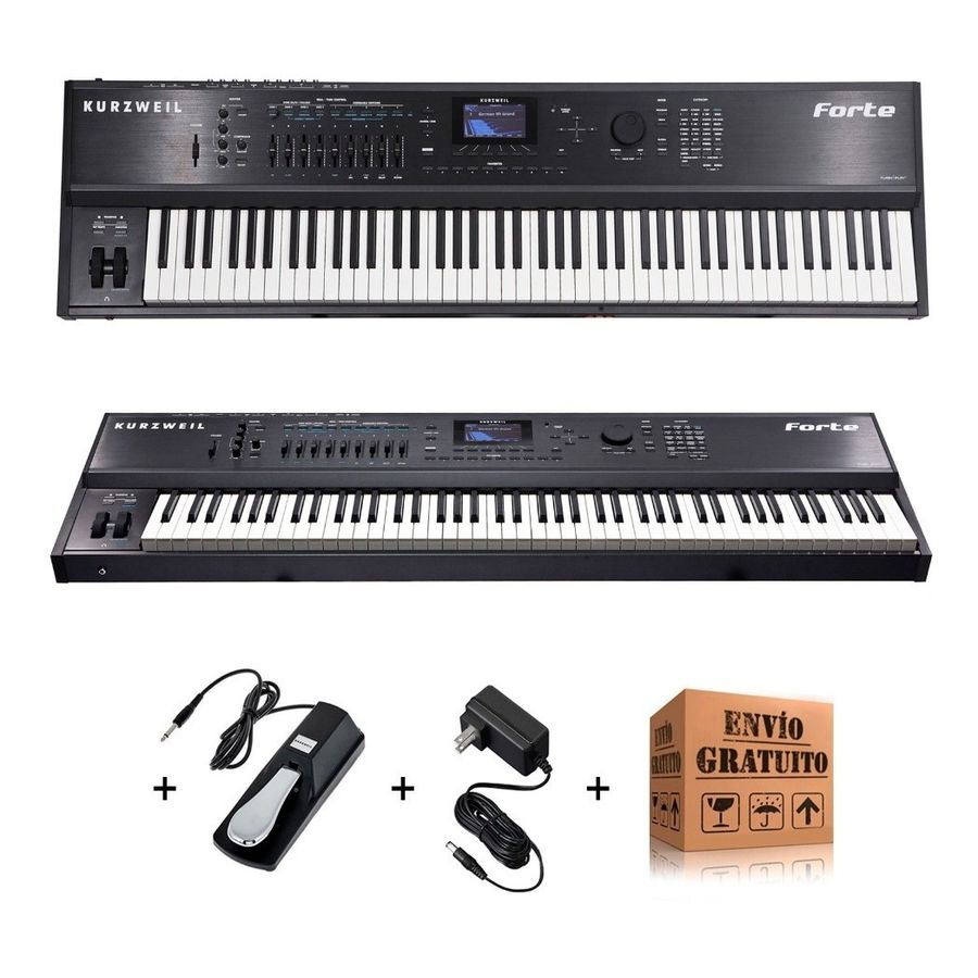 Piano-De-Escenario-Kurzweil-Forte-De-88-Teclas-Midi---Pedal