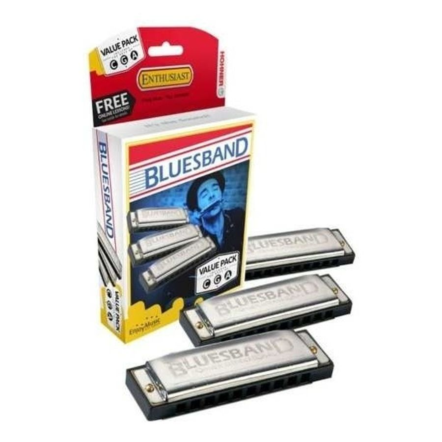 Pack-Set-3-Armonicas-Hohner-Blues-Band-Do-Sol-La---C---G---A-Es-Una-Armonica-Facil-De-Tocar-E-Ideal-Para-Principiantes
