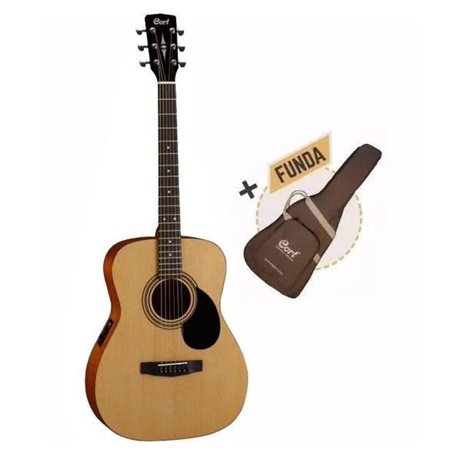 Guitarra-Electro-Acustica-De-Viaje-Cort-Af510e---Funda