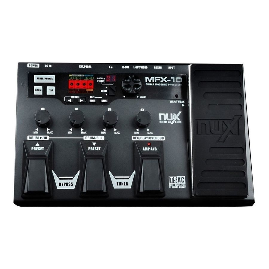 Pedalera-Multiefecto-Nux-Mfx-10-C-pedal-Expresion
