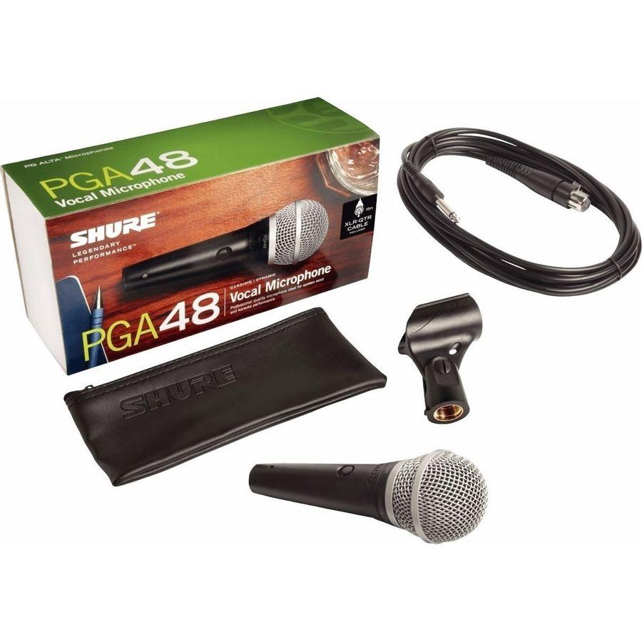 Microfono-Shure-Pga48-Vocal-Dinamico-Cardioide-Con-Cable