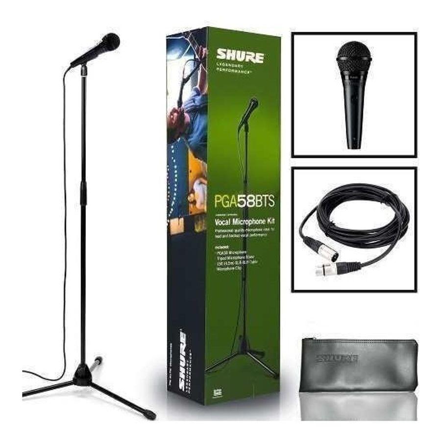 Pack-De-Soporte-Con-Microfono-Shure-Pga58-Y-Cable-Xlr-Perfecto-Para-Vocalista