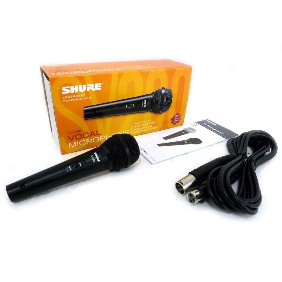 Microfono-Dinamico-Shure-Vocal-Sv200-Con-Switch-Y-Cable-Xlr