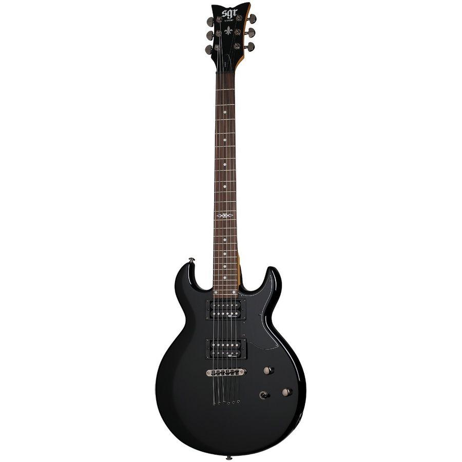 Guitarra-Electrica-Sgr-By-Schecter-S1-Negra-Thrubody-Cuotas