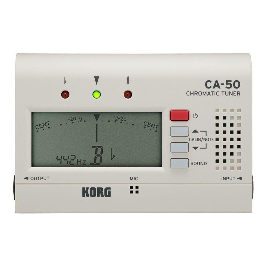 Afinador-Cromatico-Korg-Ca-50-Blanco-Bateria-Extendida