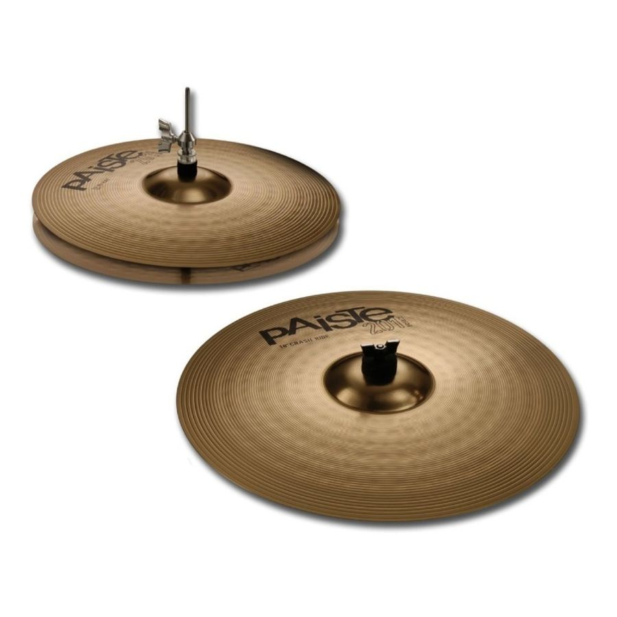 Set-Platillos-Paiste-Essential-201-Hi-hat-14---Crash-Ride-18