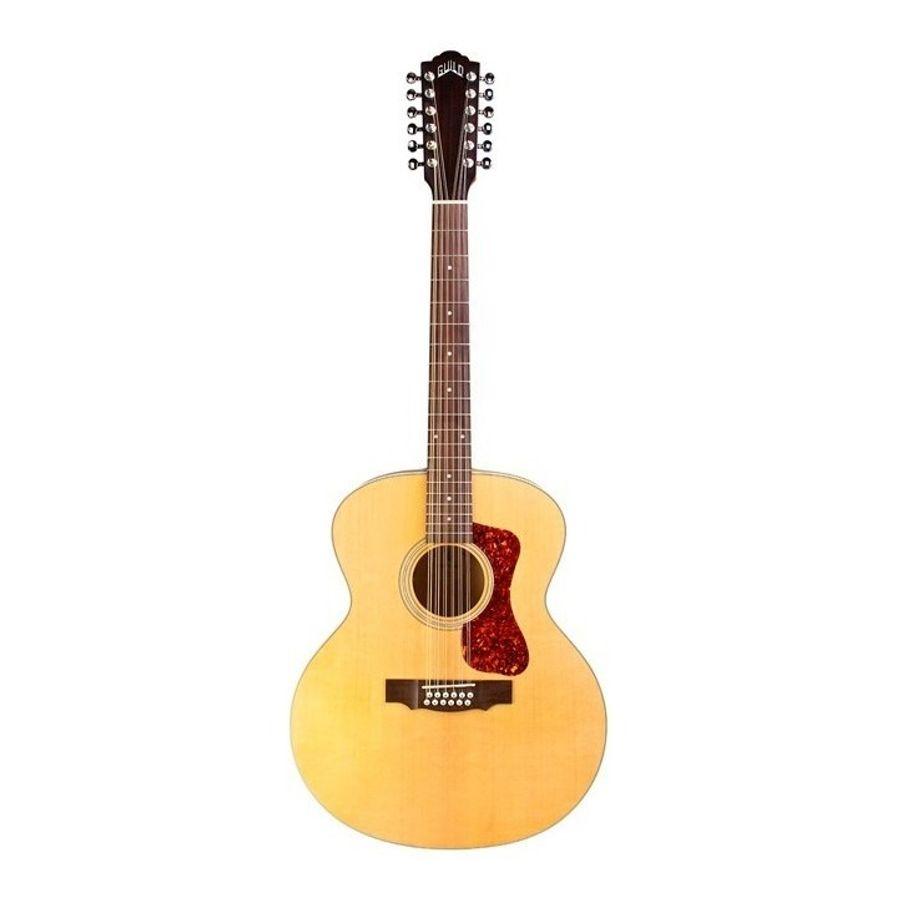 Guitarra-Electroacustica-Guild-12-Cuerdas-F-2512-E-Con-Funda