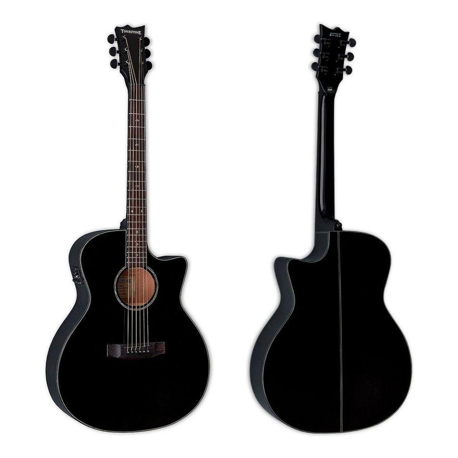 Guitarra-Electroacustica-Tombstone-By-Ltd-A300e-blk-Negra