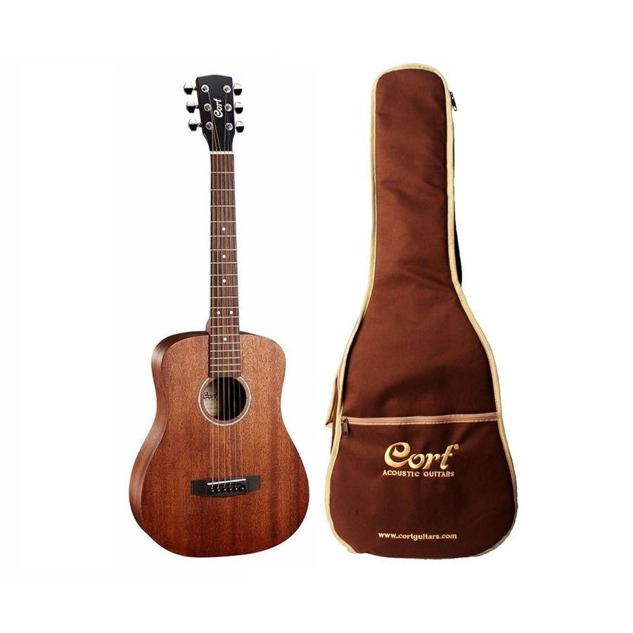 Guitarra-Acustica-De-Viaje-Cort-Ad-Mini-Tipo-Taylor-Funda