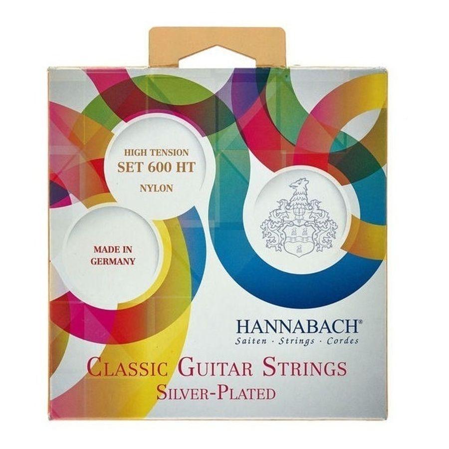 Encordado-Para-Guitarra-Clasica-Hannabach-600ht---Tension-Alta---Calibres-072-113---Bañadas-En-Plata