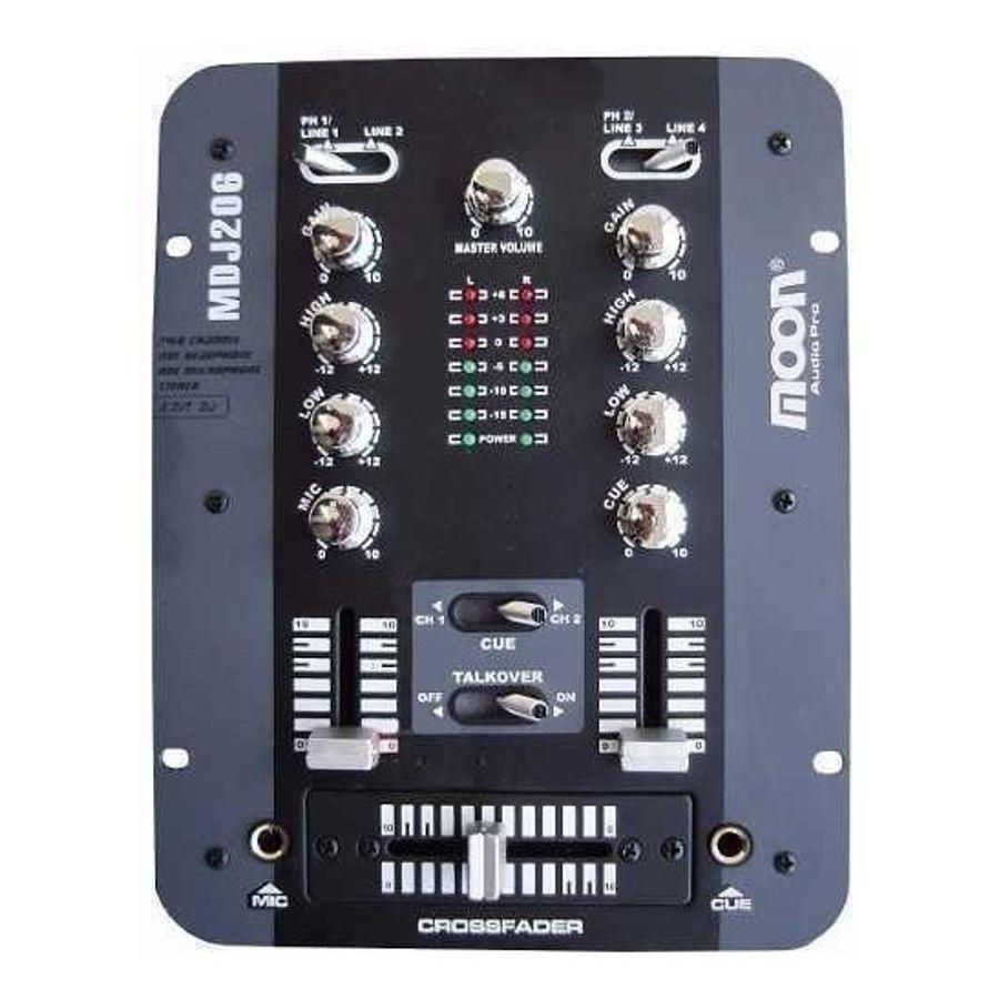Consola-De-Dj-Moon-Dos-Canales-Control-De-Ganancia-Mdj206