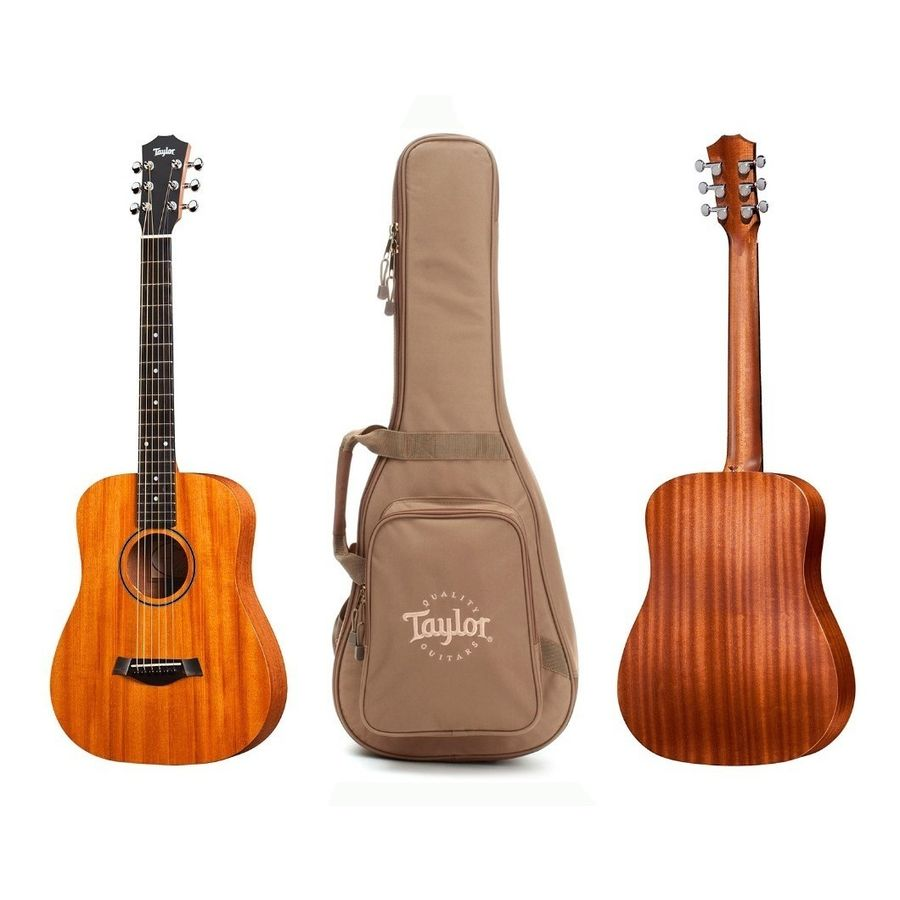 Taylor--Guitarra-Acustica-Con-Funda-De-Viaje-Bt2