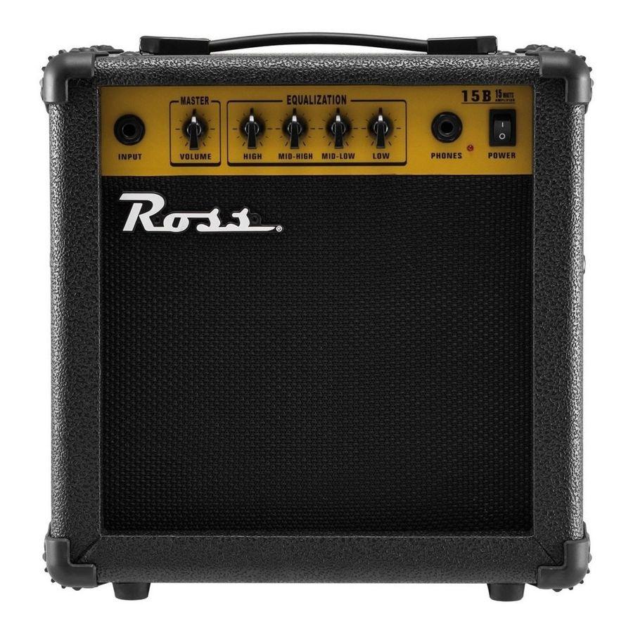 Amplificador-Para-Bajo-De-15-Watts-Ross-B15-Parlante-De-65-Con-Ecualizador-De-4-Bandas-Salida-De-Auriculares-Con-Muteo