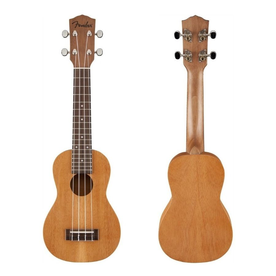 Ukelele-Fender-Tamaño-Soprano-Piha-eu-De-Caoba-Laminada