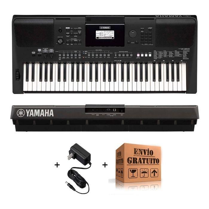 Teclado-Yamaha-Psr-E463-Organo-Sensitivo---61-Teclas-758-Voces-48-Notas-Polifonia-Parlantes-2-X-25-W---Fuente---Envio