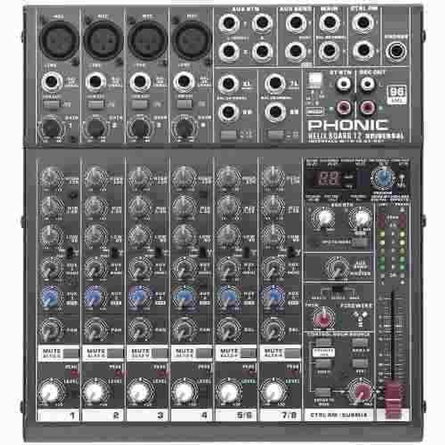 Mixer-Consola-Phonic-4-Xlr-Usb-2.0---Firewire-Helixboard12u
