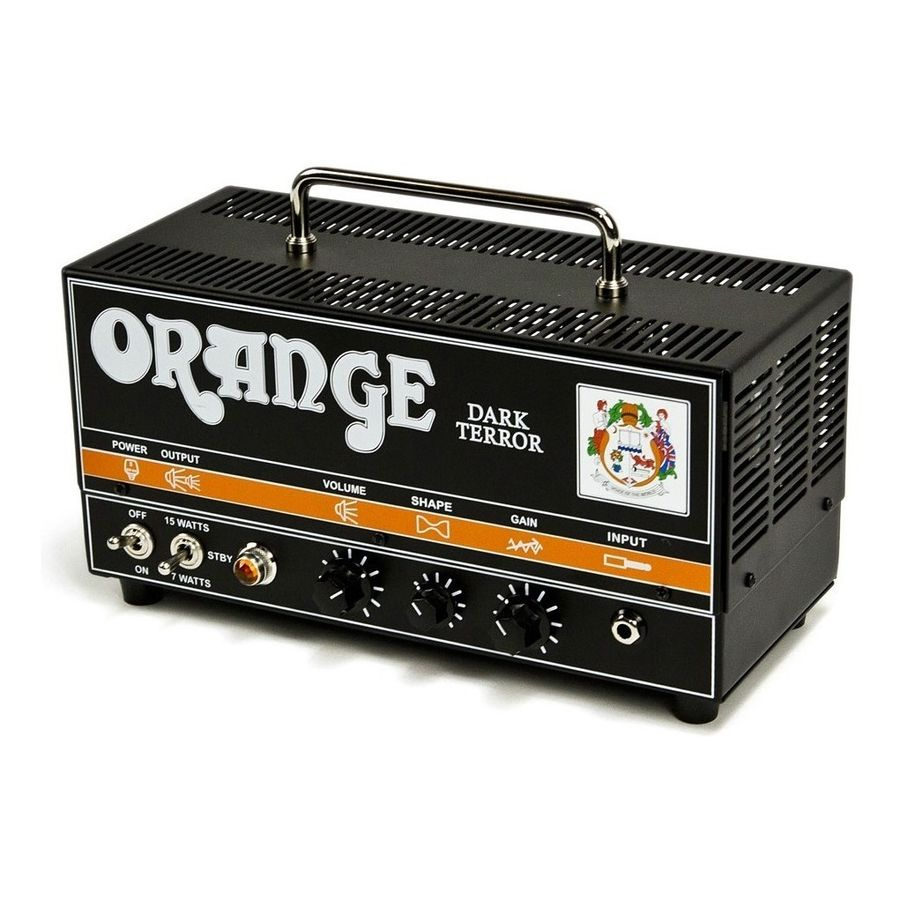 Cabezal-Orange-Dark-Terror-100--Valvular-15-Watts-High-Gain