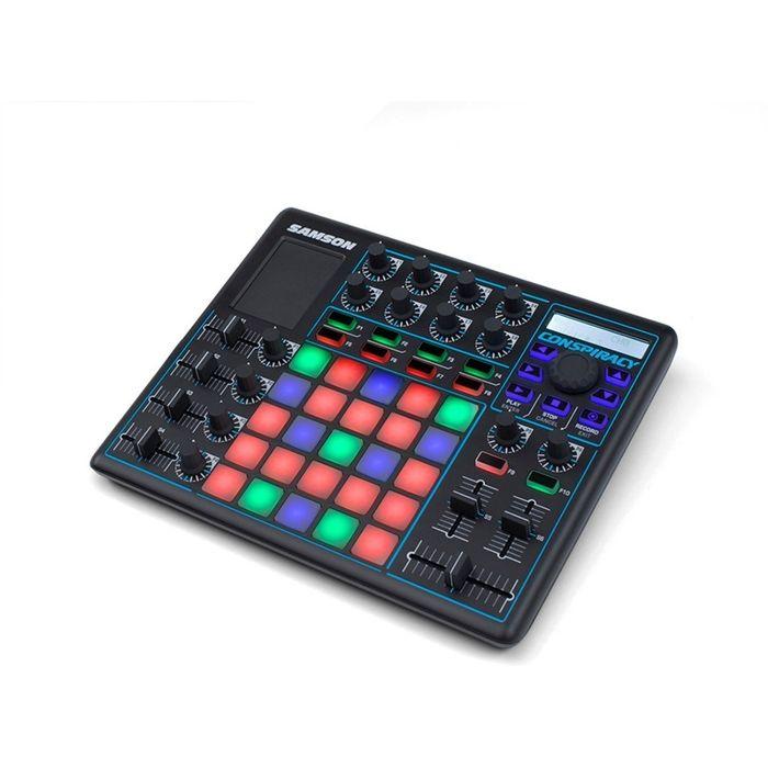Controlador-Usb-Midi-Samson-Conspiracy-Launchpad-Dj