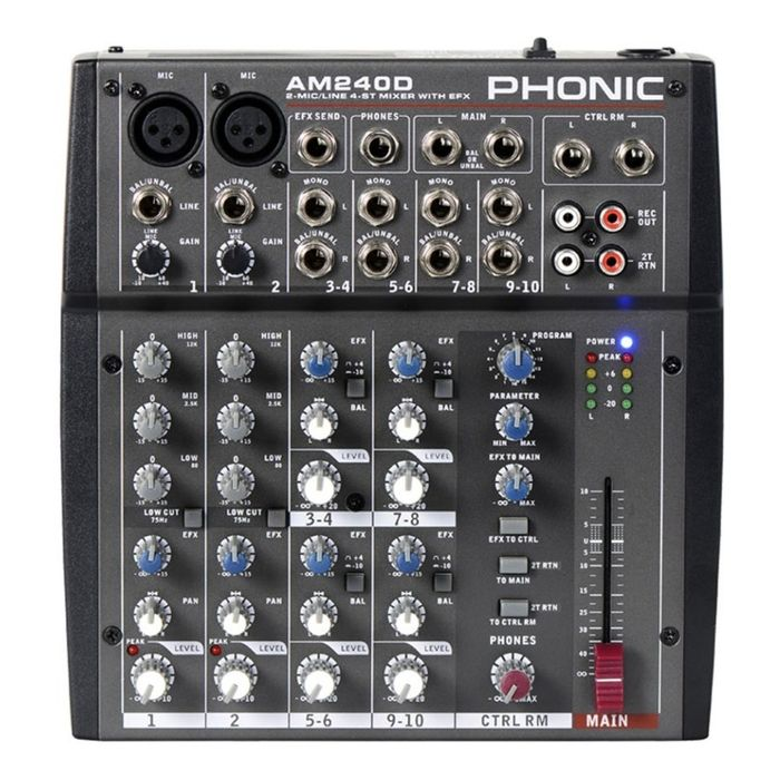 Consola-Mixer-Phonic-Am-240d-Compacto-2-In-Mic-linea-Dfx