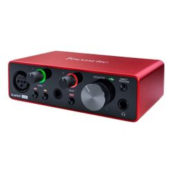 Placa-De-Sonido-Interface-Focusrite-Scarlett-Solo-De-3era-Generacion-Con-Entrada-Canon-Plug-Para-Instrumento