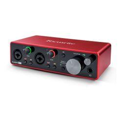 Placa-De-Sonido-Interface-Focusrite-Scarlett-2i2-De-3era-Generacion-Con-2-Entradas-Canon-Plug-De-Microfonos-Instrumentos
