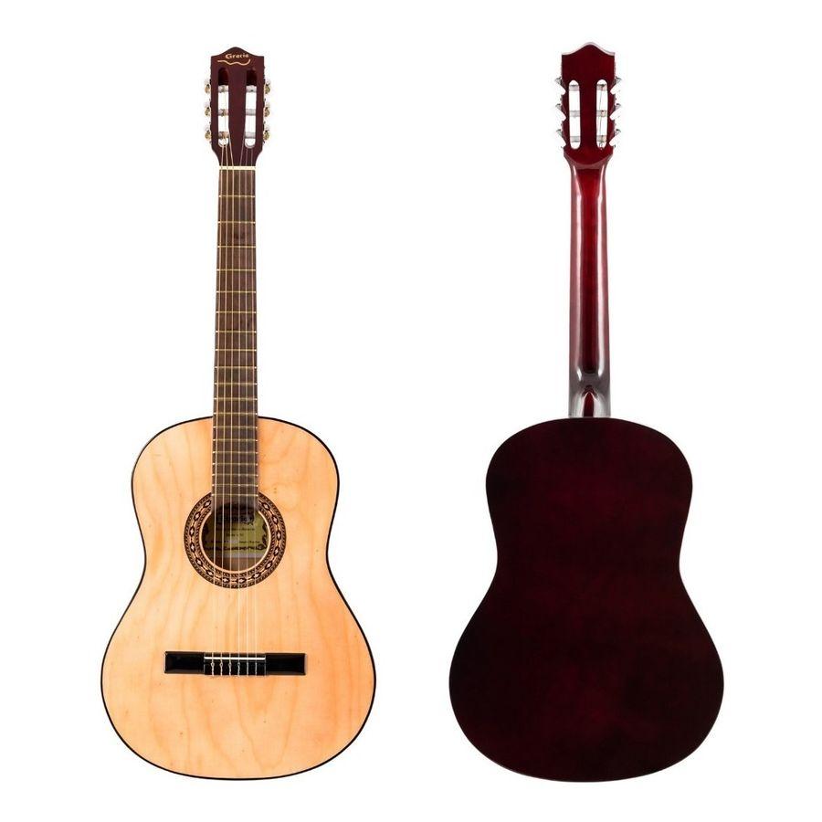 Guitarra-Clasica-Criolla-Gracia-M2-Natural-Tamaño-Estandar-Perfecta-Para-Iniciacion-Color-Natural
