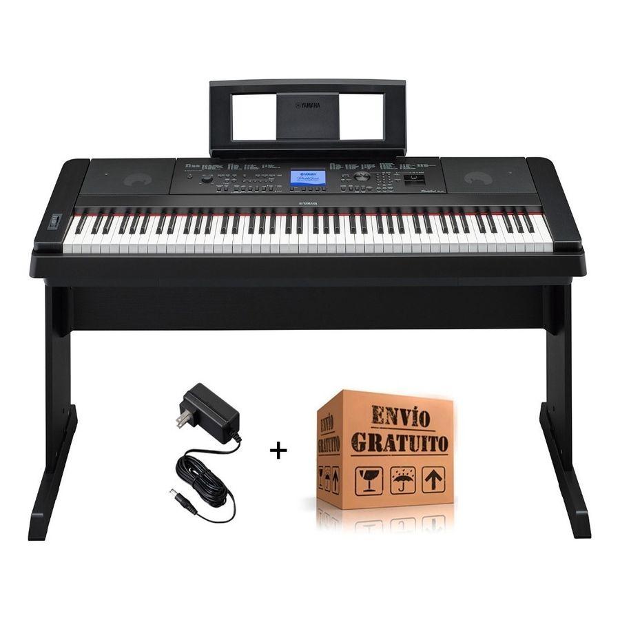 Piano-Digital-Yamaha-Dgx660-B-88-Teclas-Pesadas-Con-Mueble