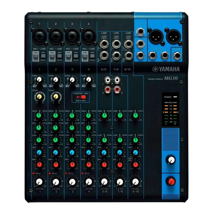 Consola-Mixer-Yamaha-Mg10-4-Mic-10-Canales-Line-Input