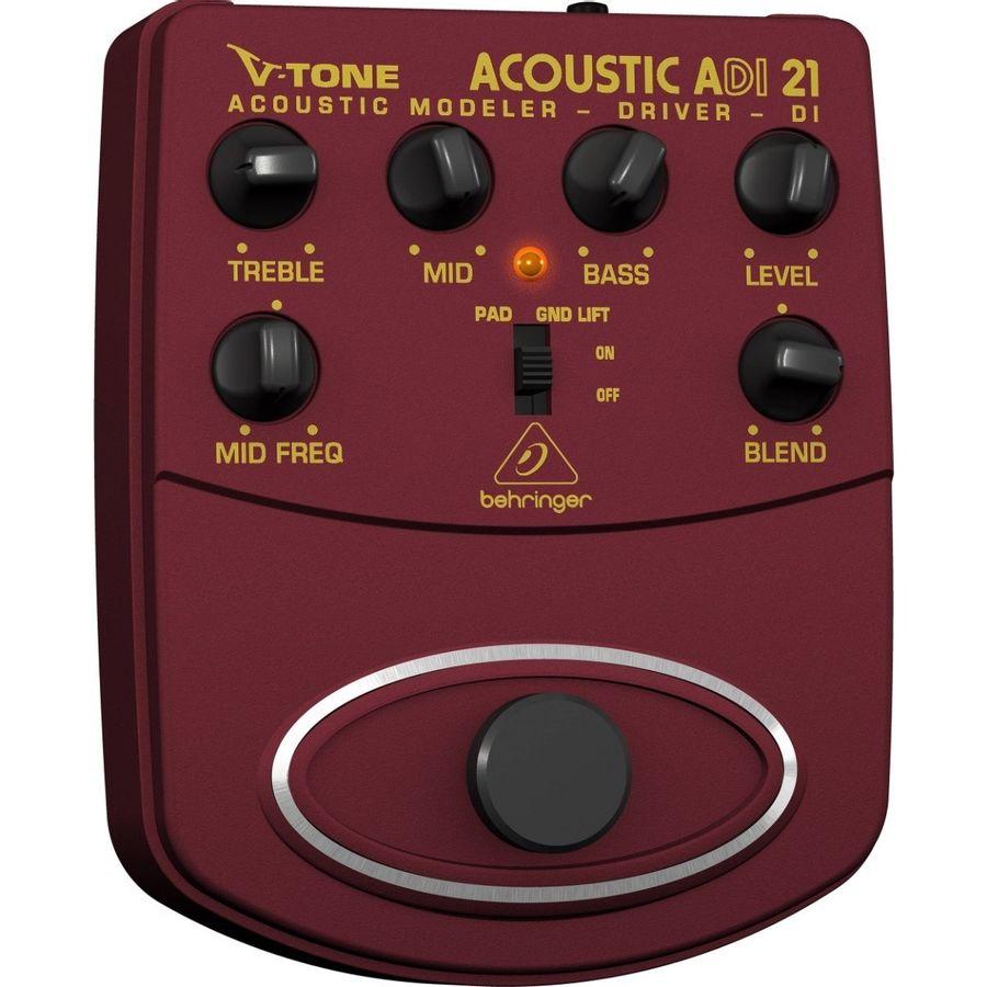 Pedal-Behringer-ADI21-Acoustic-Amp-Modeler-Driver-True-Bypass
