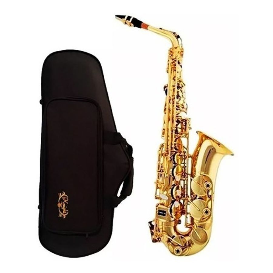 Saxo-Alto-Eb--Mi-B--Knight-JBAS200GL-Dorado-con-Estuche