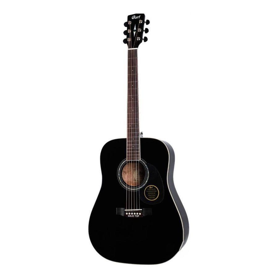 Guitarra-Acustica-Cort-Serie-Earth-100-Dreadnought-Negra-Con-funda