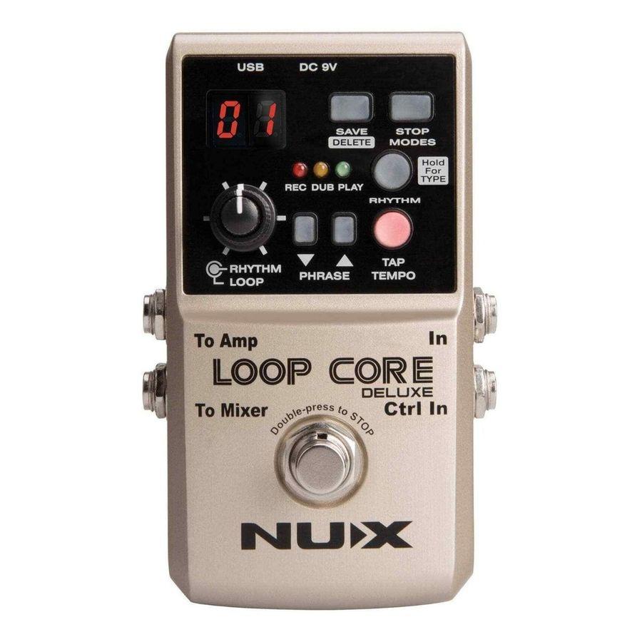 Pedal-de-Looper-Nux-Loop-Core-Deluxe-True-Bypass-Metal