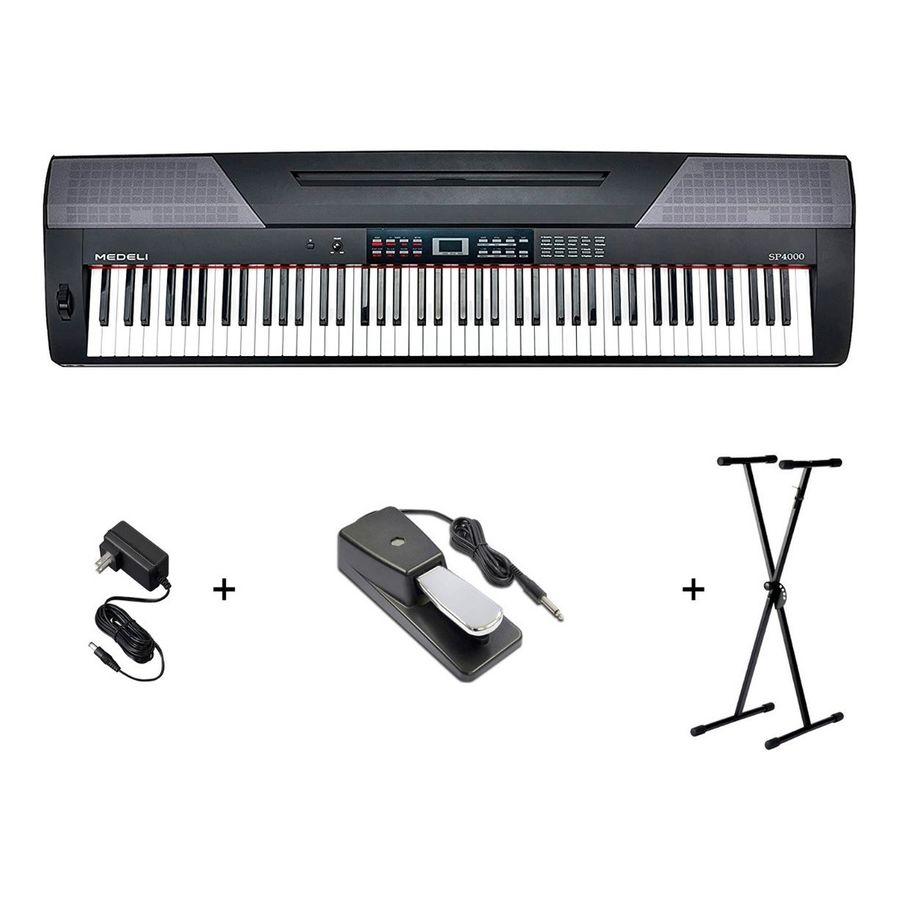 Combo-Piano-Medeli-Sp4000-88-T-Stage-Fuente-Pedal-Soporte