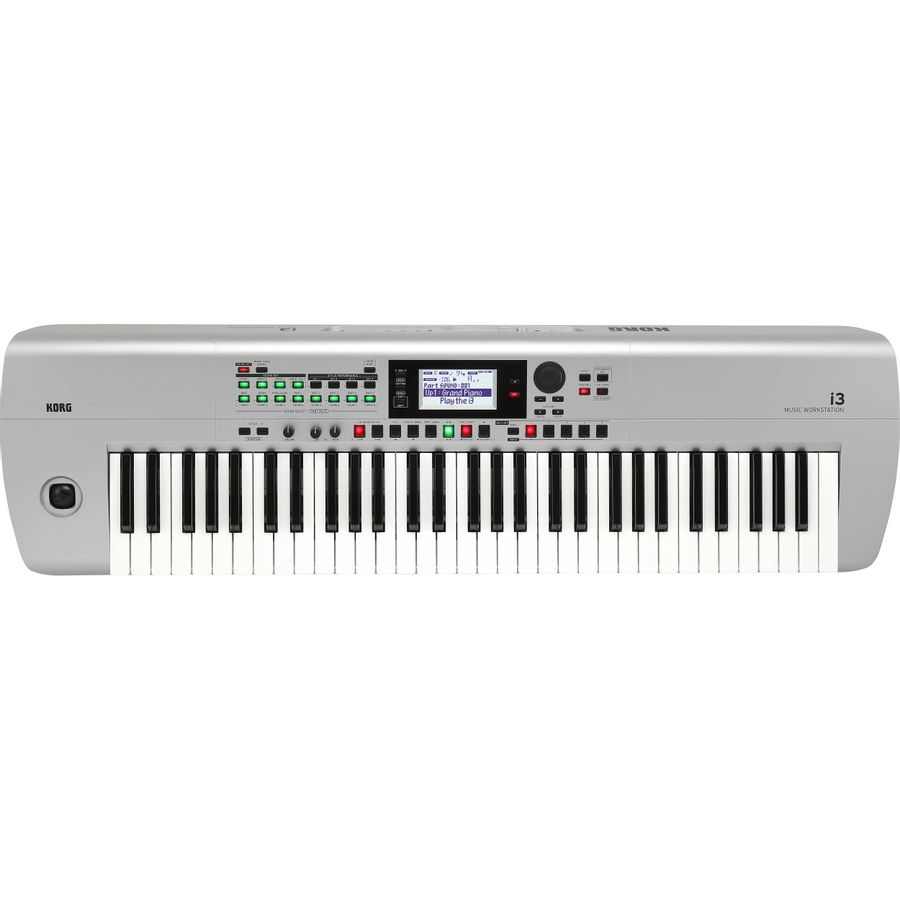 Teclado-Music-Workstation-Arranger-Korg-I3-61-Teclas-Silver